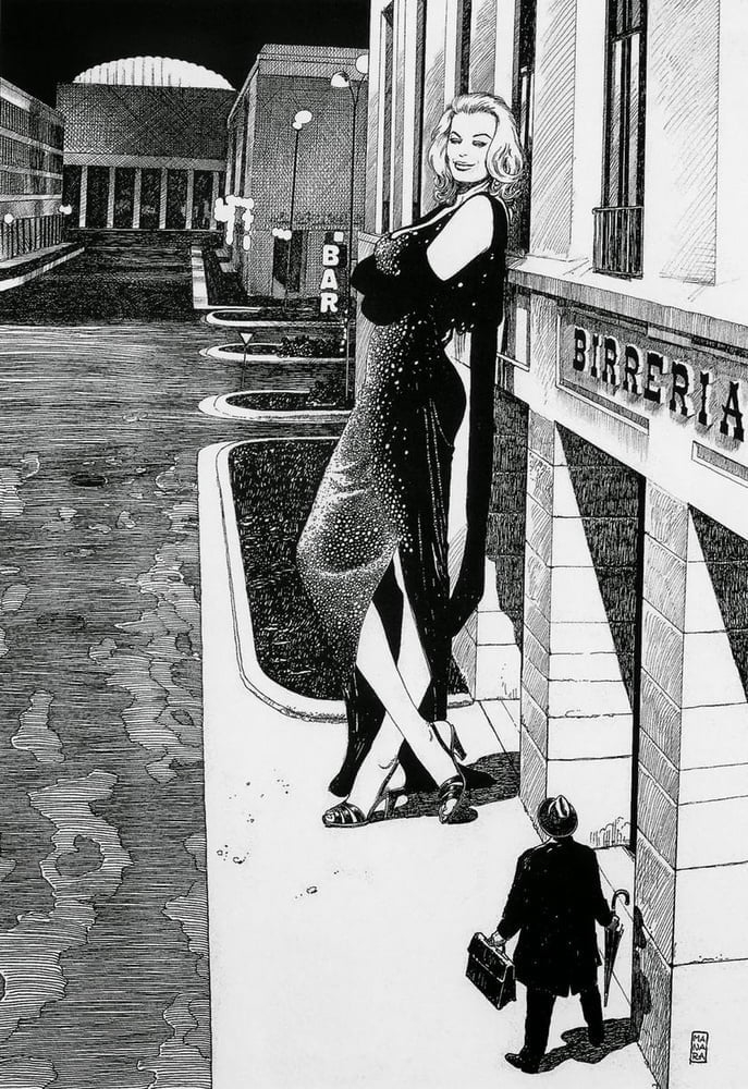 Milo Manara Fellini