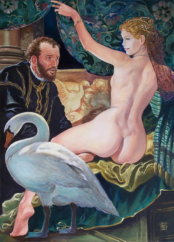 Milo Manara Leda and Swan