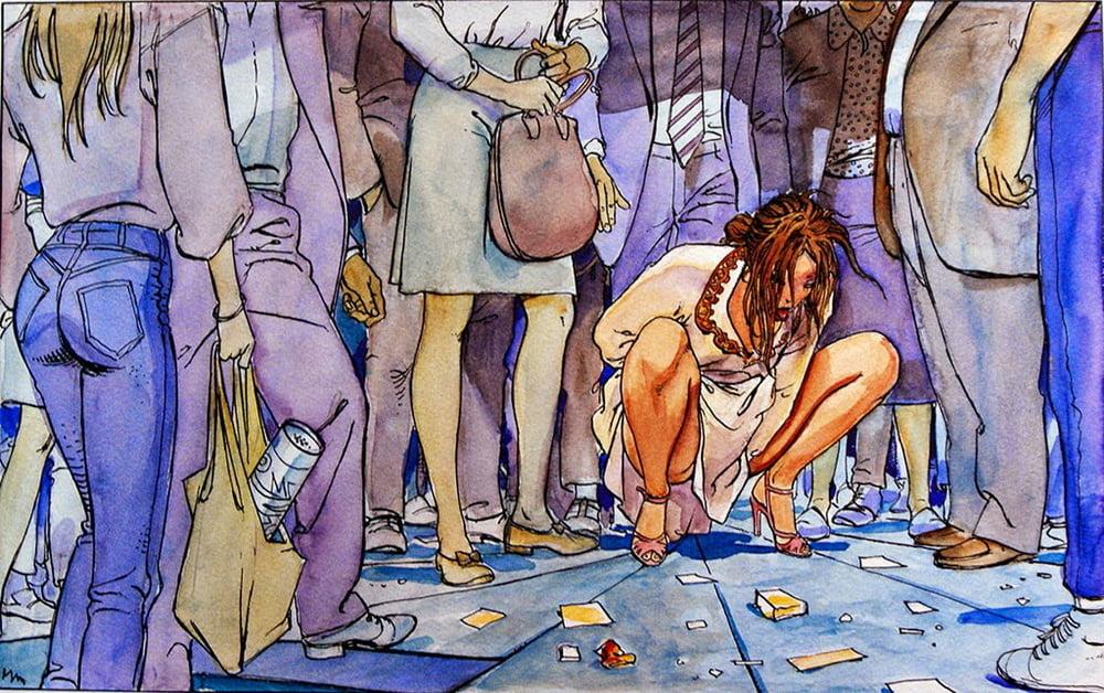 milo manara peeing female