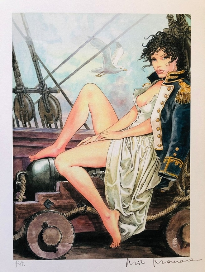 Milo Manara pirate pin up