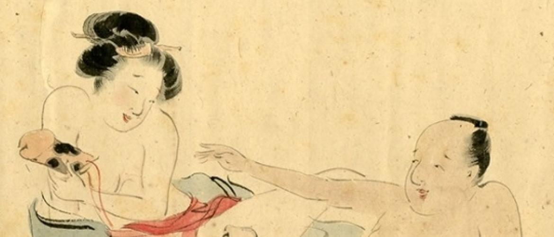 Rare Scroll with 12 Shunga Paintings by the Nihonga Artist Morimura Gito