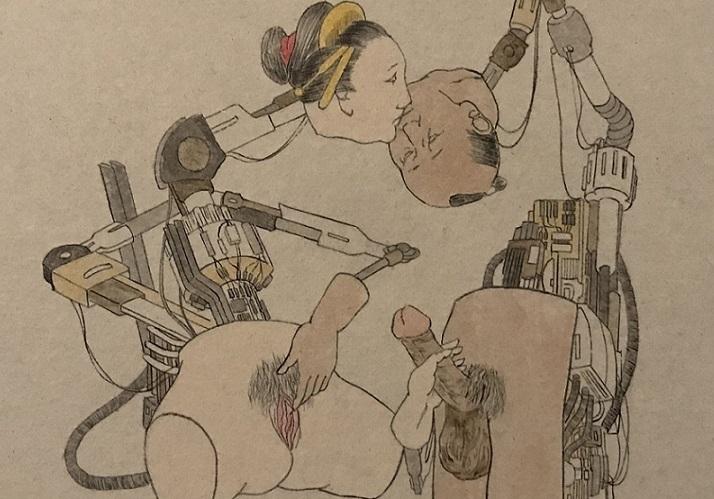 Naoki Yamaji shunga painting