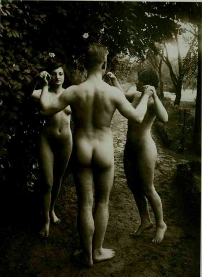 naturists in the forest