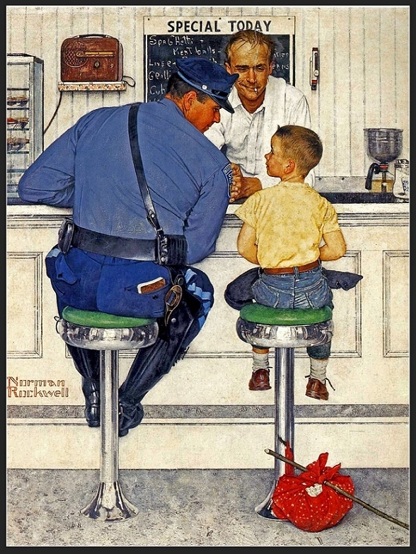 norman rockwell the runaway