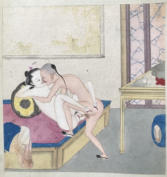nude Chinese couple ancient