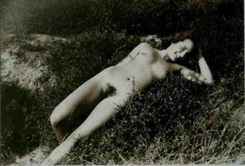 nude female in the dunes