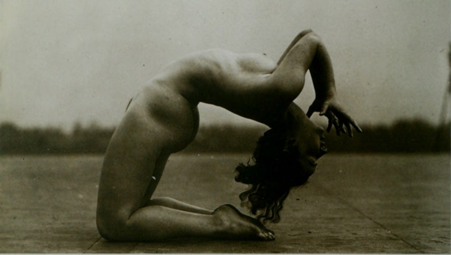 nude in acrobatic pose