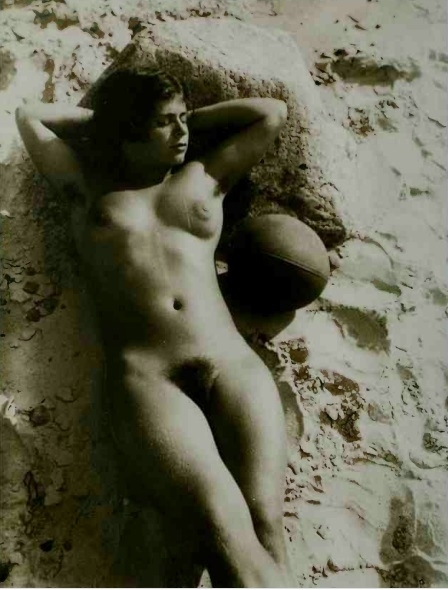nude in the sand