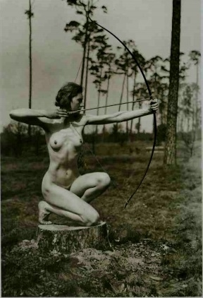 nude with bow and arrow