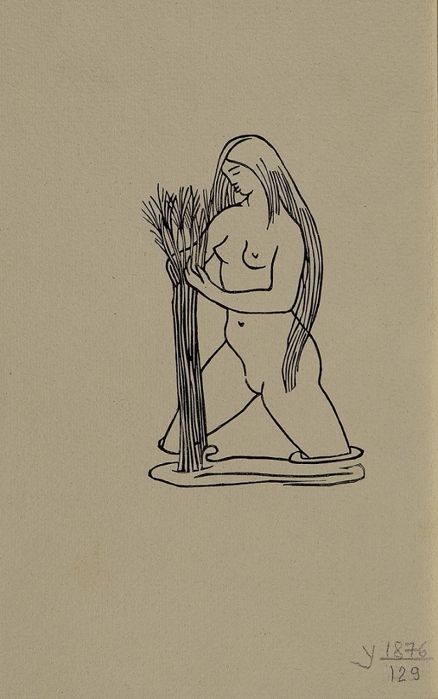 Nude woman with grass Maillol
