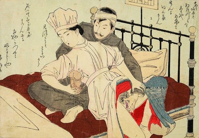 nurse Japanese erotic print