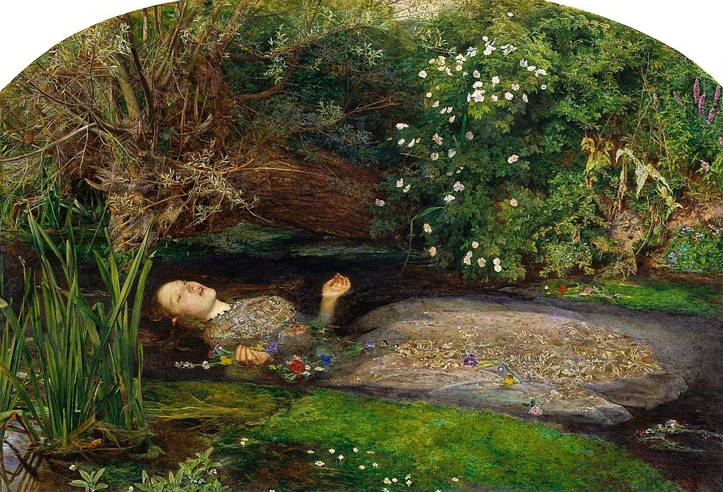 John Everett Millais, Ophelia painting