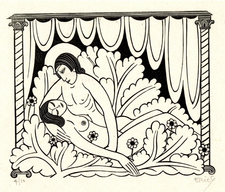 Our Bed Is All Of Flowers Eric Gill