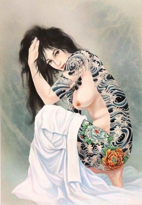 Ozuma Kaname tattooed beauty