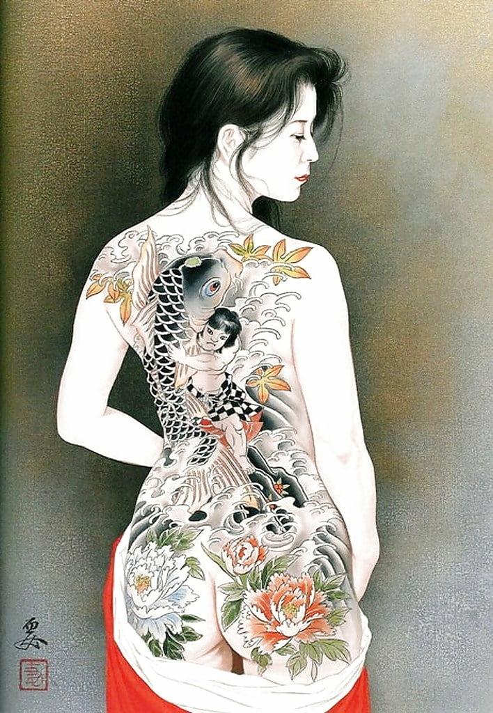 ozuma kaname tattooed nude