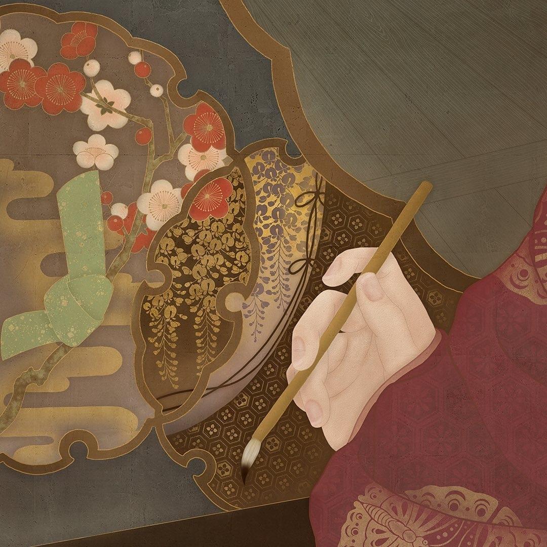 painter Senju Shunga