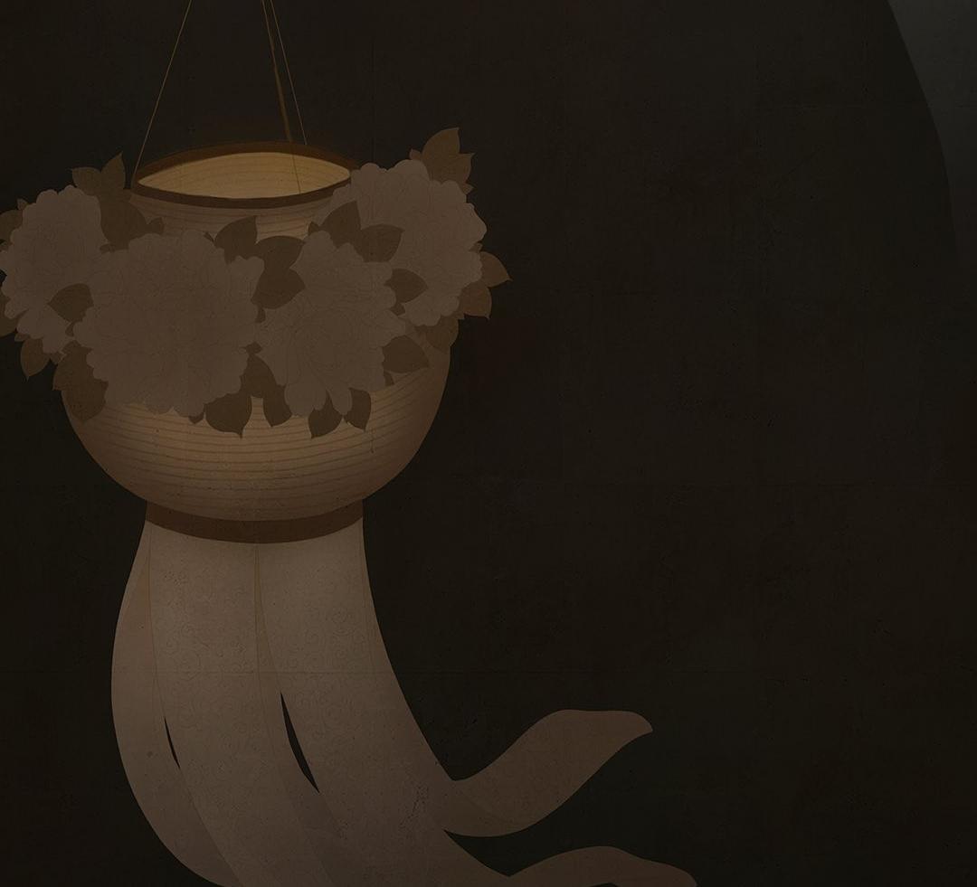 peony lantern senju shunga