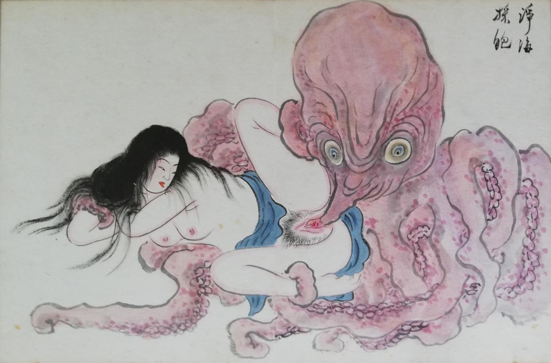 performing cunnilingus octopus