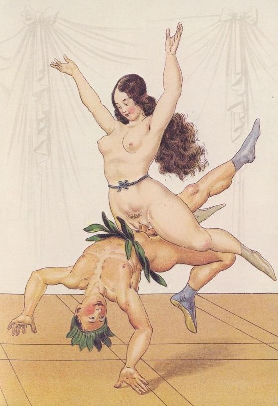 Peter Fendi acrobatic scene