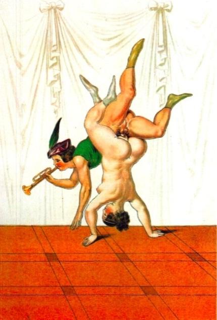Peter Fendi erotic acrobats