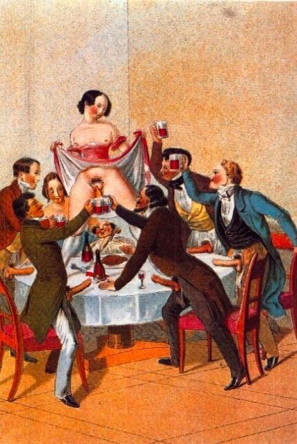 Peter Fendi erotic dinner
