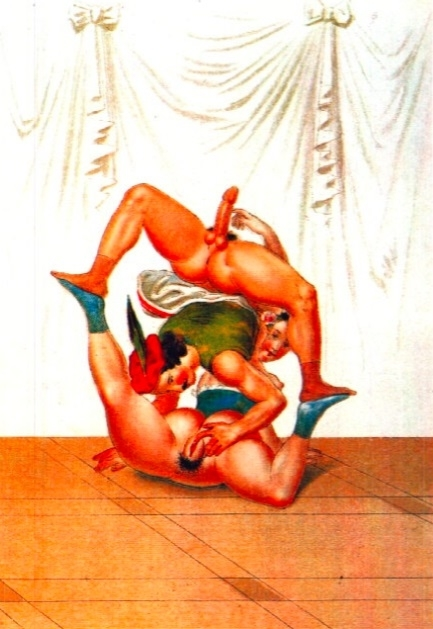 Peter Fendi Erotic scene with acrobats
