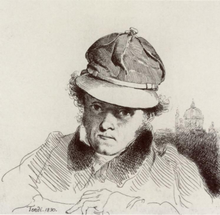 Peter Fendi self portrait