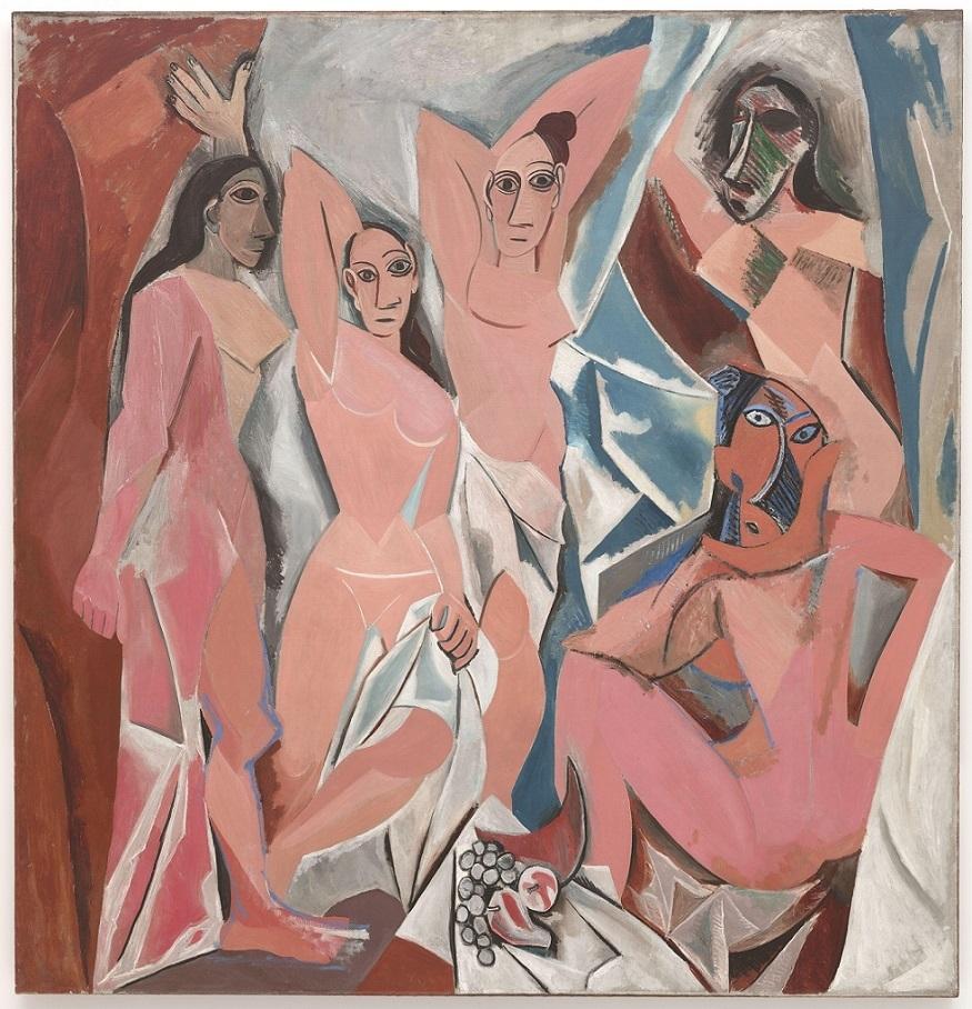 """Picasso's famous """"Les Demoiselles d'Avignon"""