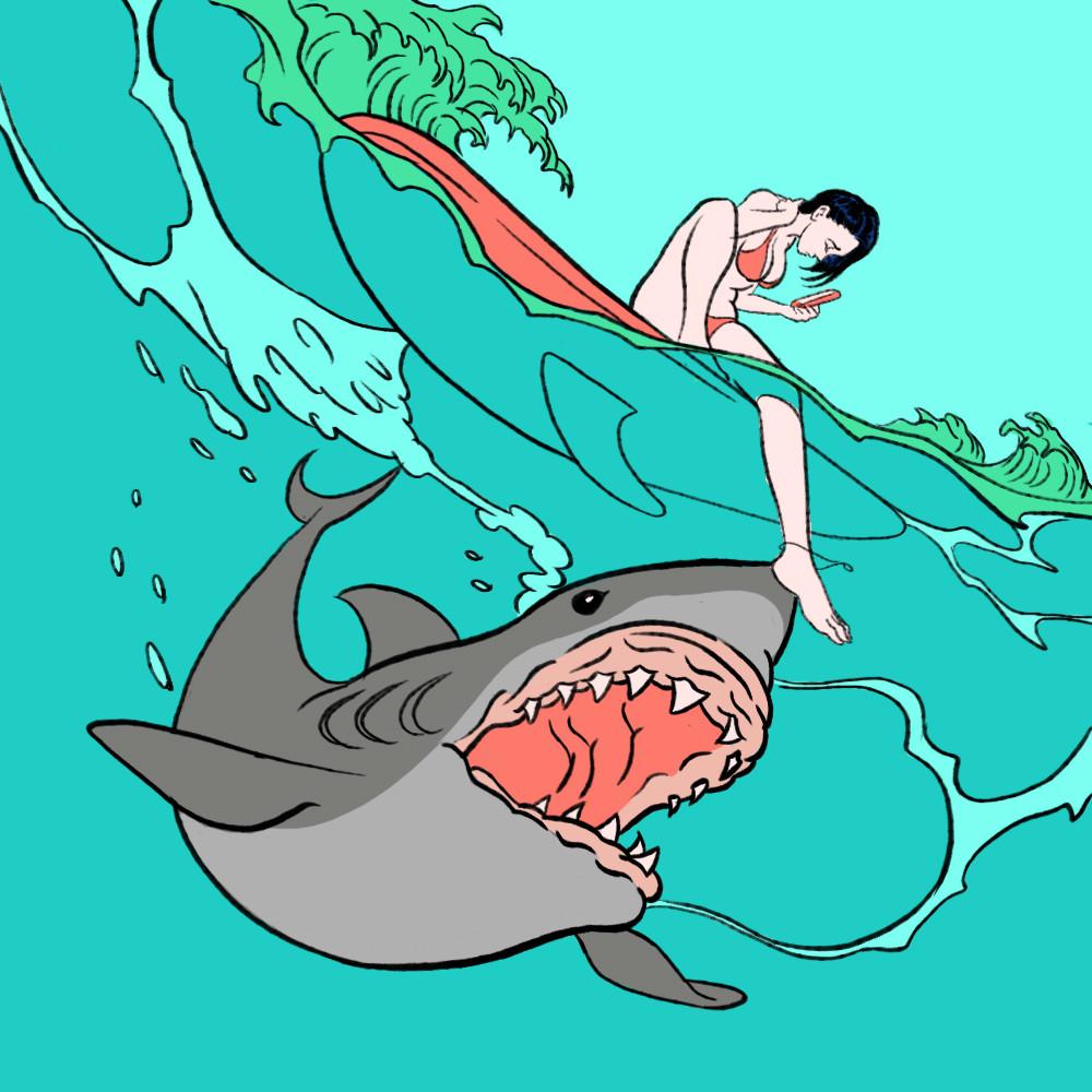"Pigo Lin Painting ""Shark"""