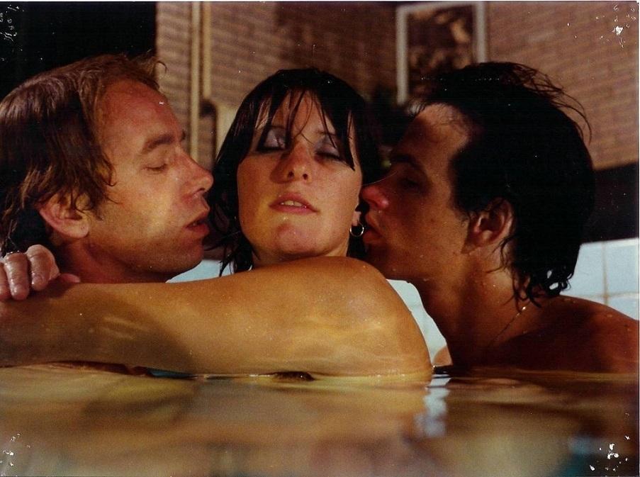 Plum Blossom threesome in bath