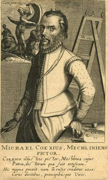 Portrait of Coxie by Simon Frisius