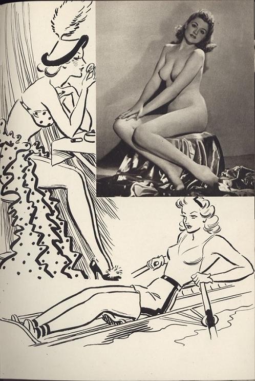 posing sitting nude art