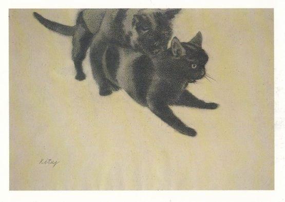 R. B. Kitaj My Cat and Her Husband