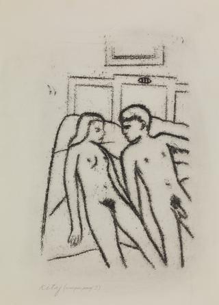 R. B. Kitaj Nude couple in bed