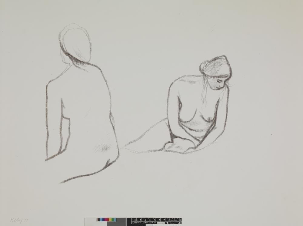 R. B. Kitaj Nude female figure,