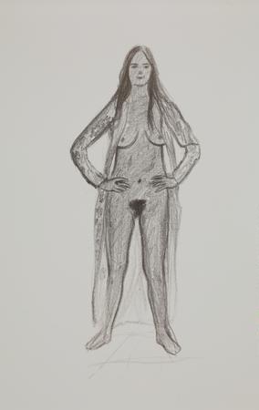 R. B. Kitaj Standing nude