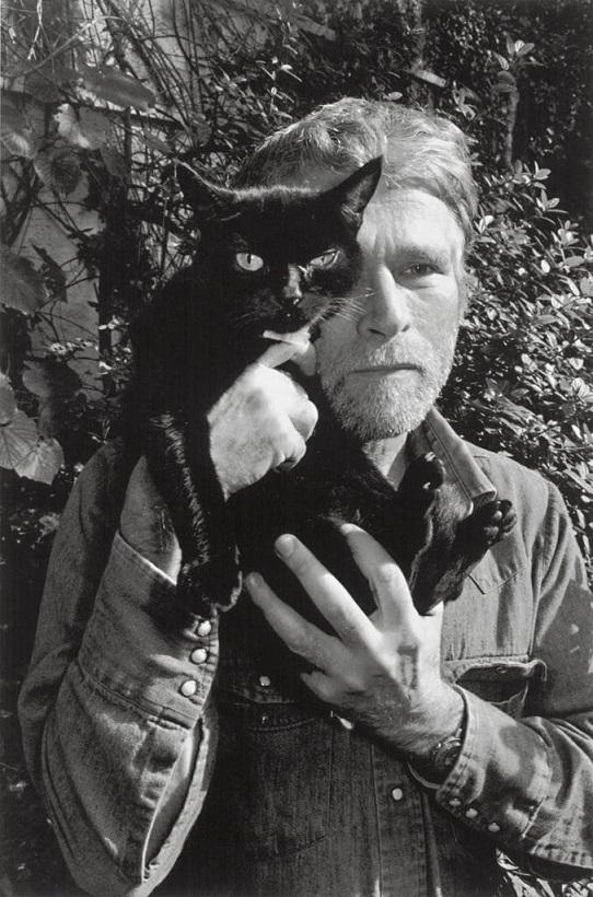 R. B. Kitaj with his cat