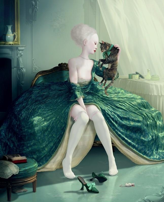 Ray Caesar Female with cat