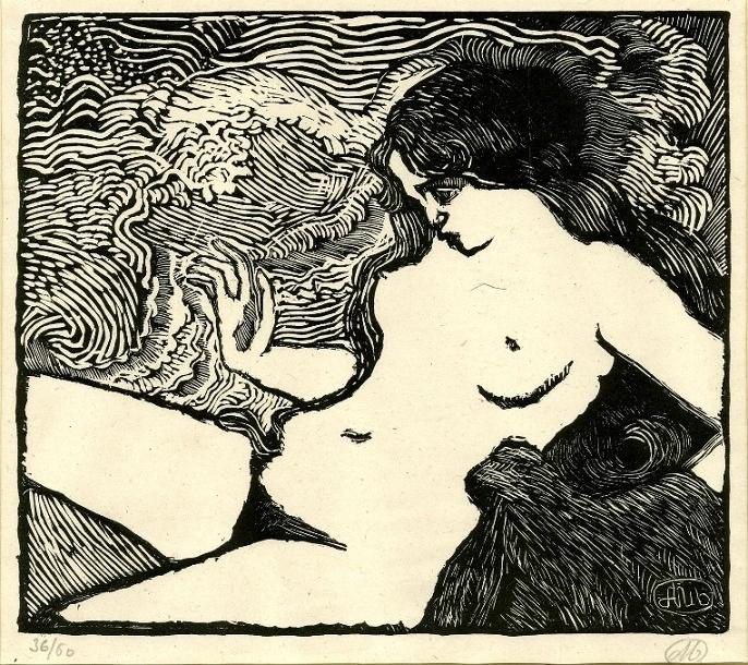 Reclining nude Aristide Maillol