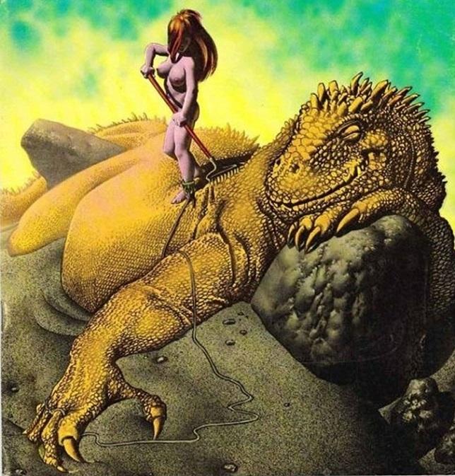 richard corben dinosaur and nude