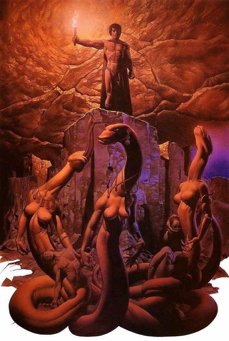 richard corben snake goddesses