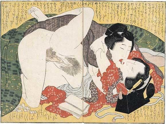 shunga gallery com: The Horny God of Izumo by Hokusai
