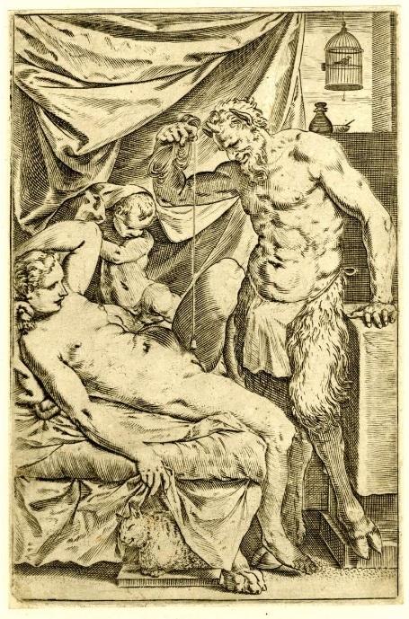 Satyr Mason by Agostino Carracci