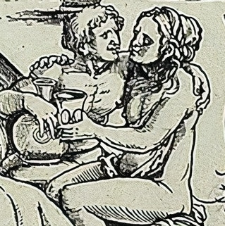 Sebald Beham drinking lovers