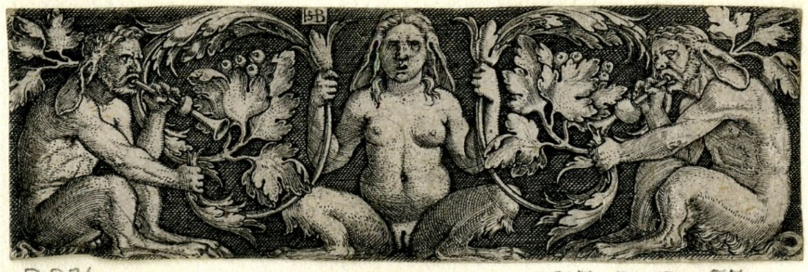 Sebald Beham three satyrs