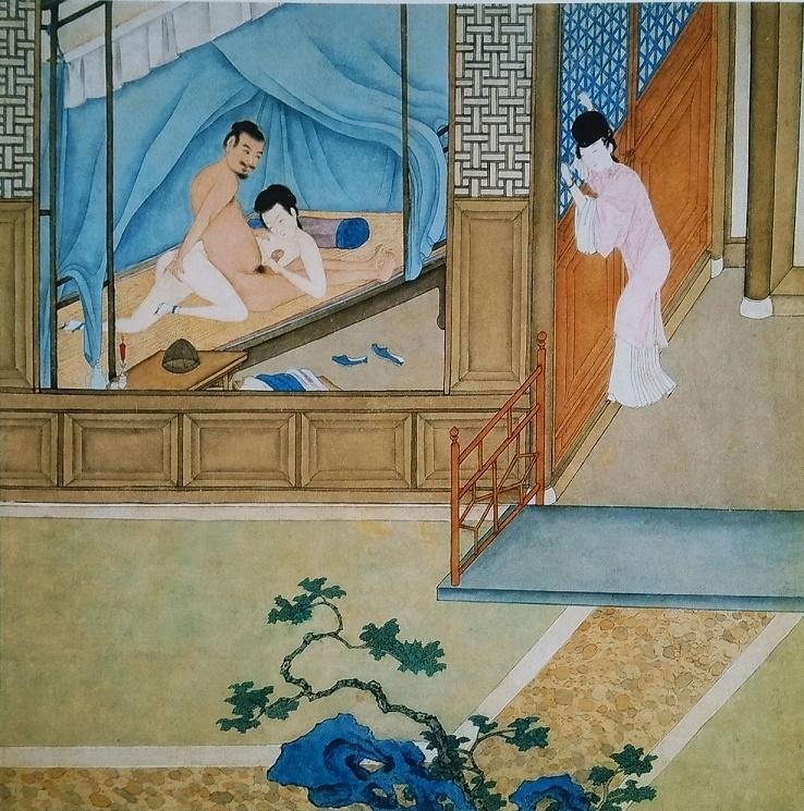 secret affair Chinese erotic painting