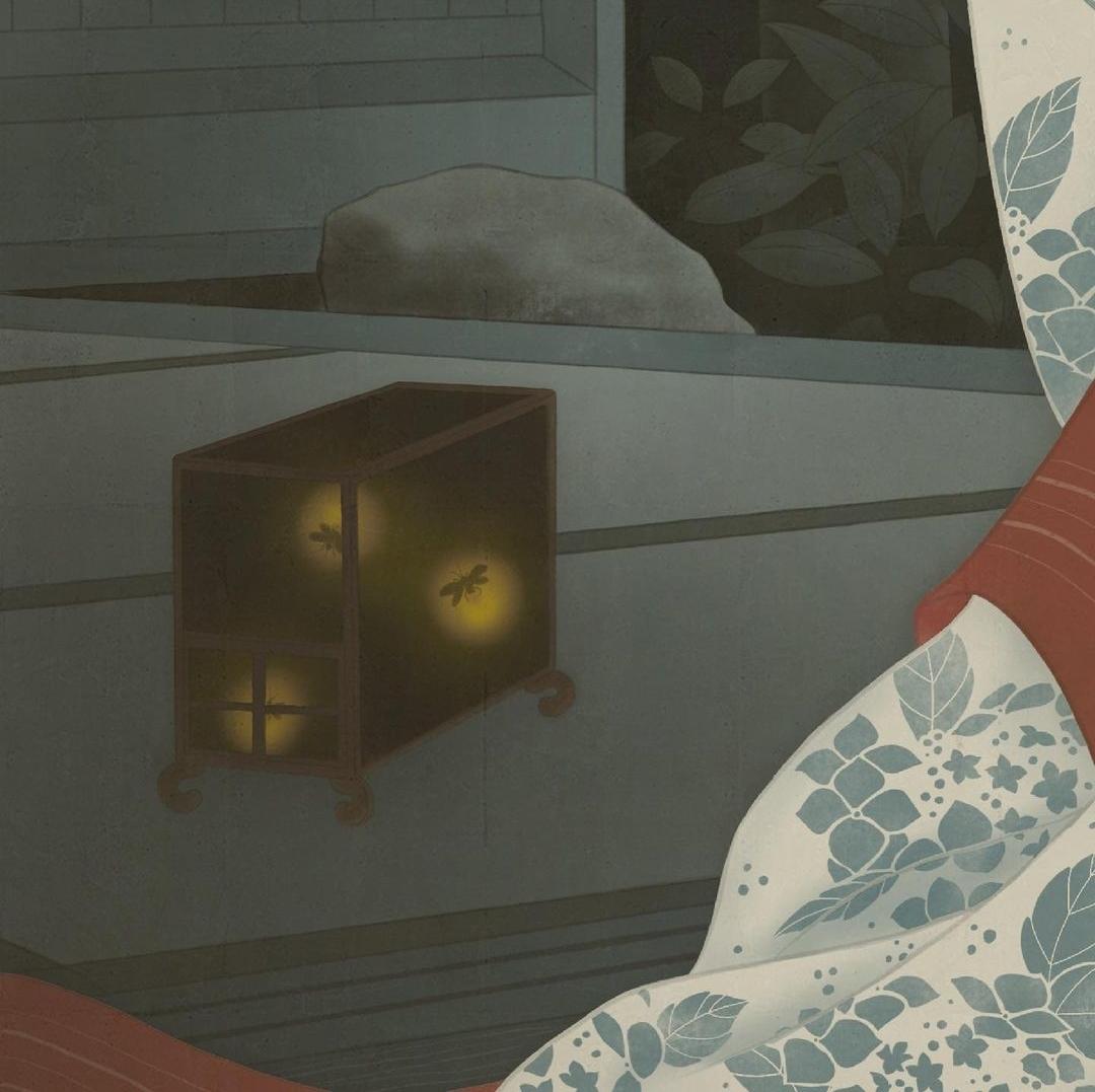 senju shunga 'Hotaru Fireflies art