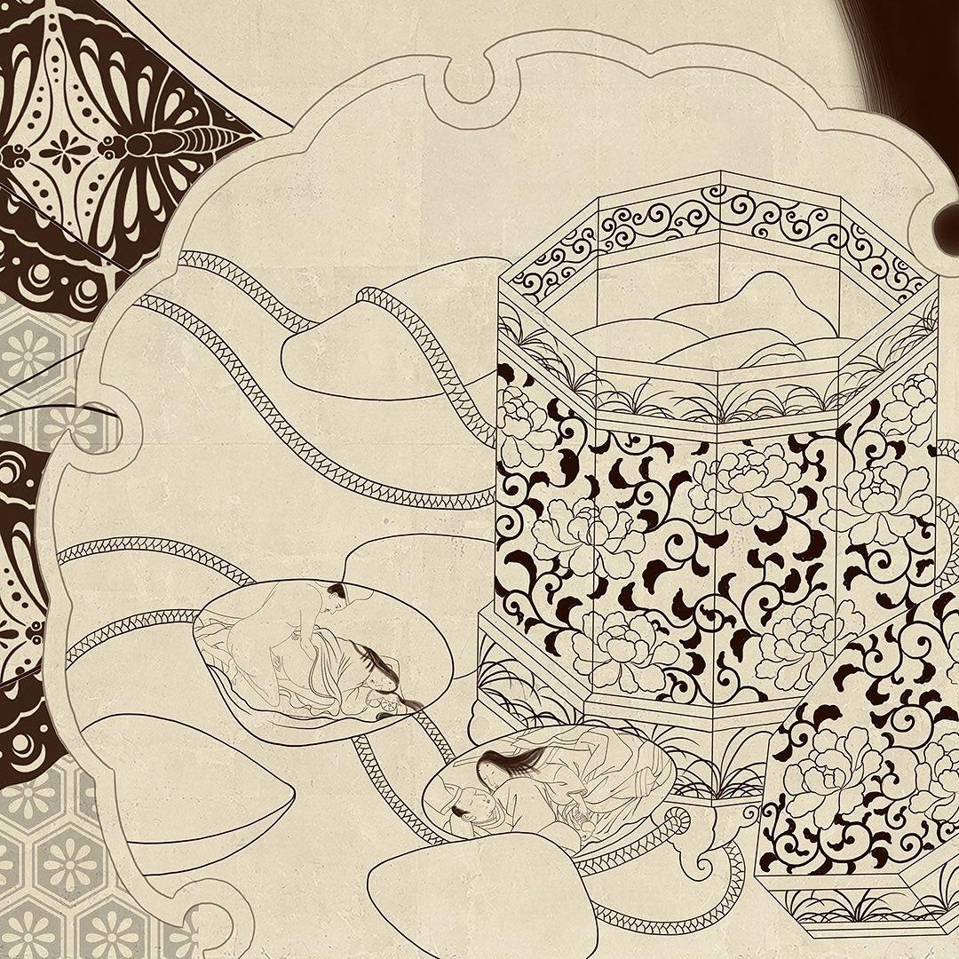 senju shunga painting detail