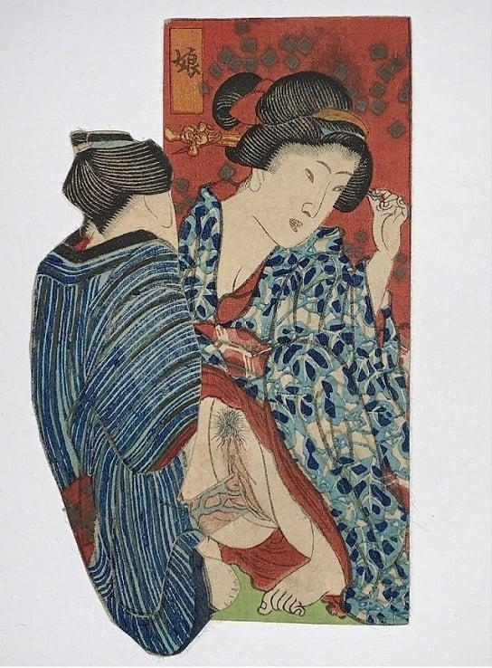 shikake-e geisha erotic art