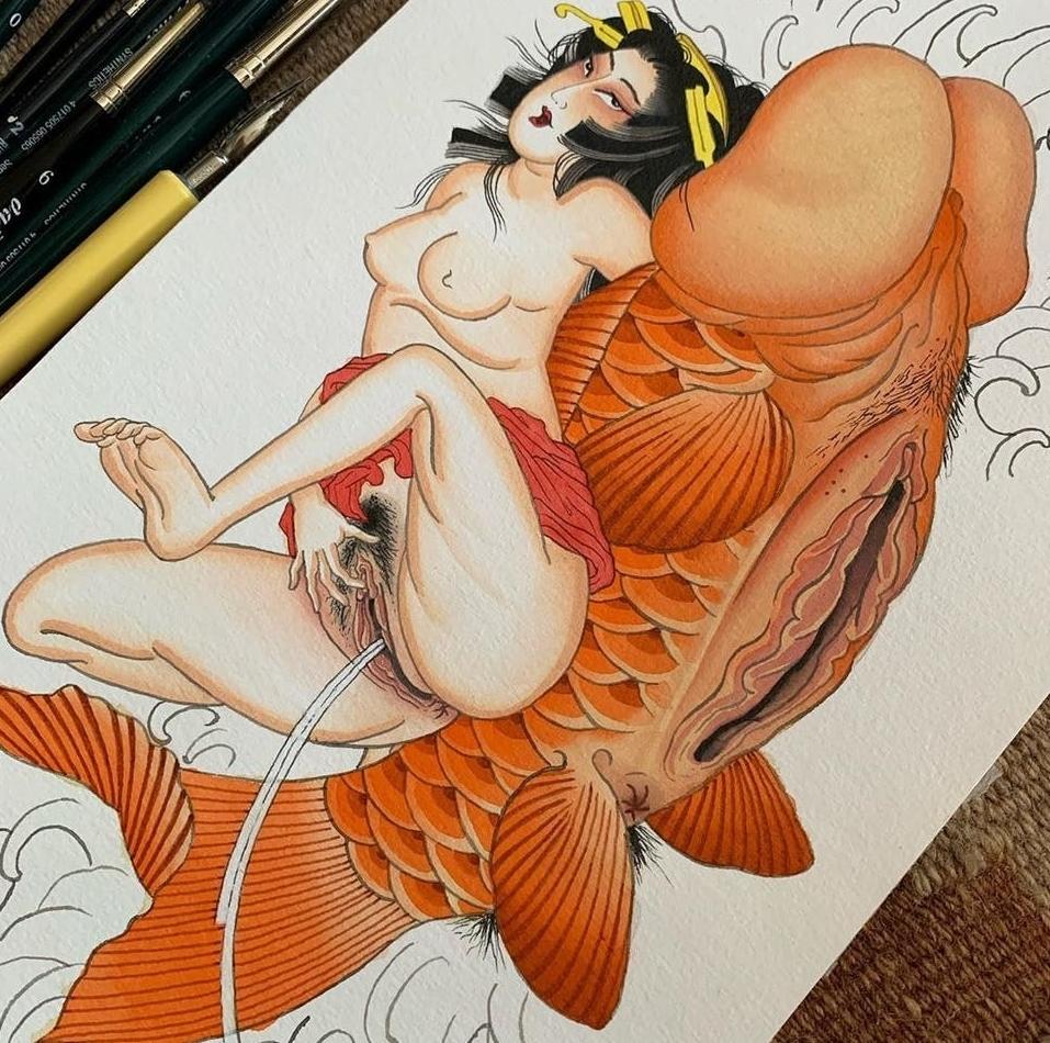 Shunga art by Alina Vives